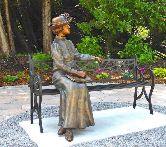Maud in her garden